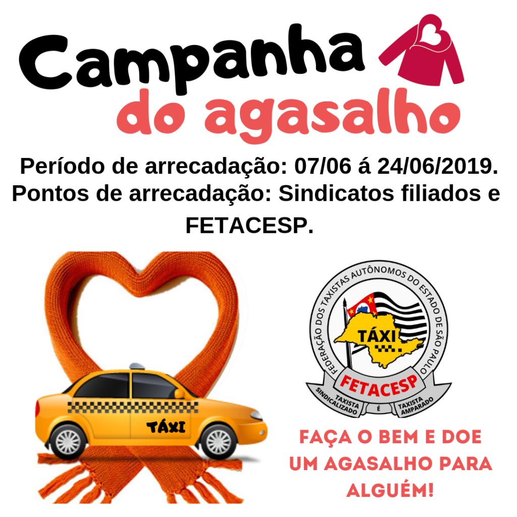 Campanha do agasalho 2019 – Táxi do bem!