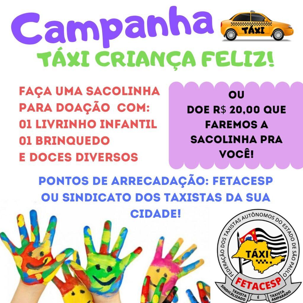 Lançammento campanha Táxi Criança Feliz!
