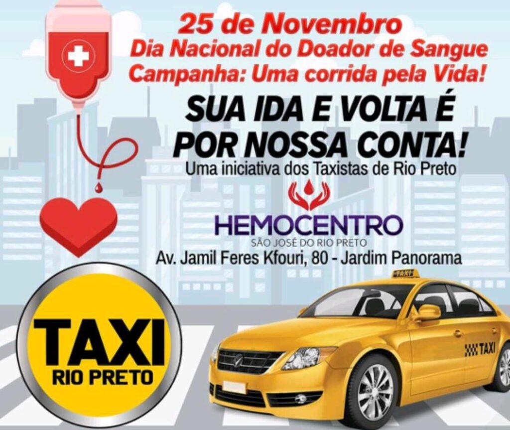 FETACESP parabeniza taxistas de Rio Preto por campanha de doação de sangue.