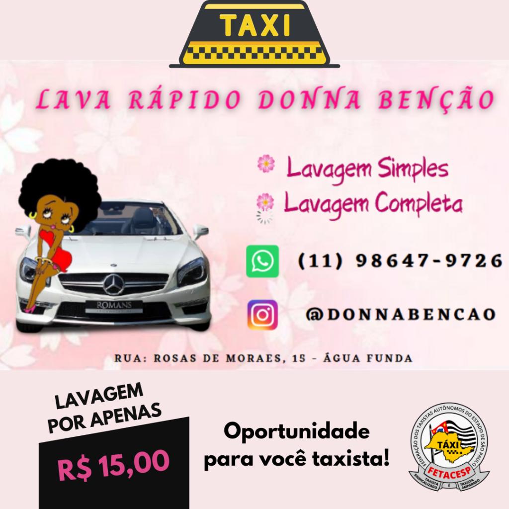 Parceria Lava Rápido Donna Benção